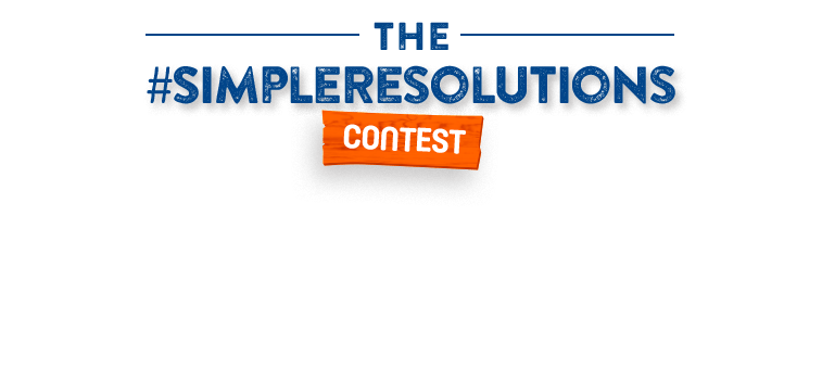 The #SIMPLERESOLUTIONS contest. Enter now to win 1 of 5 gifts baskets ($250 ARV)